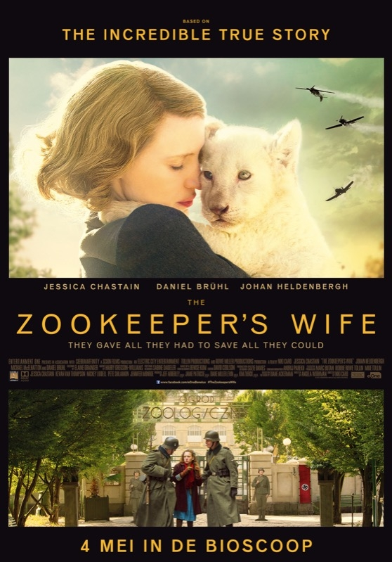 The Zookeeper's Wife poster, © 2017 Entertainment One Benelux