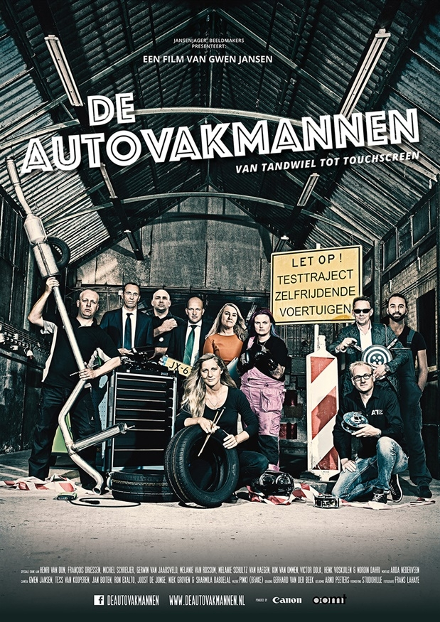 De Autovakmannen poster, copyright in handen van productiestudio en/of distributeur