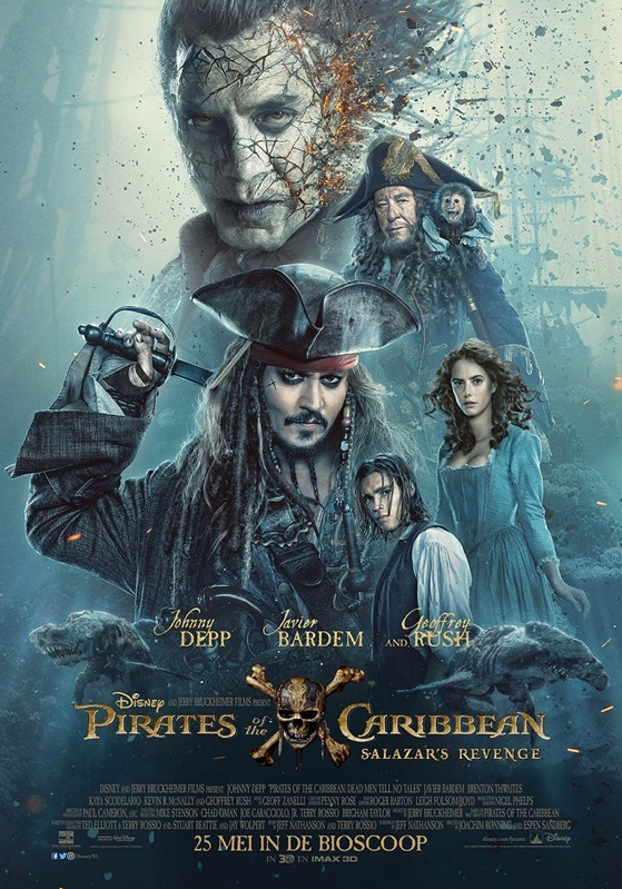 Pirates of the Caribbean: Dead Men Tell No Tales poster, © 2017 Walt Disney Pictures
