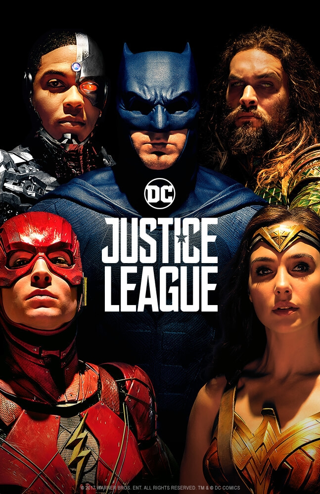 Justice League poster, © 2017 Warner Bros.