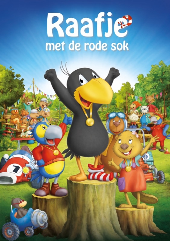 Der kleine Rabe Socke - Das große Rennen poster, © 2015 Twin Film