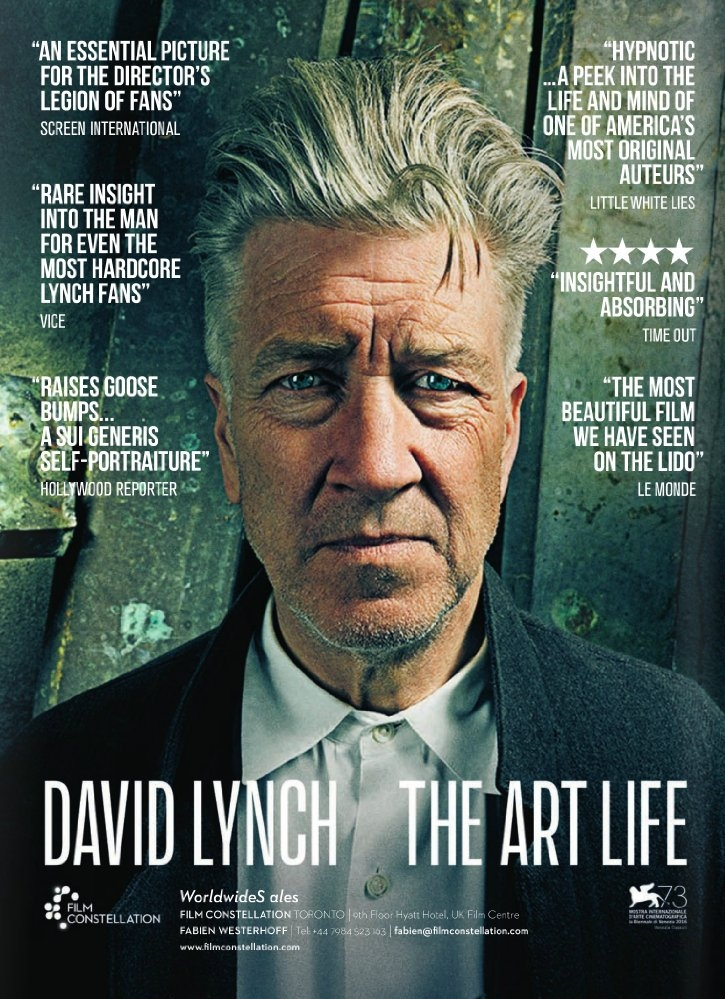 David Lynch: The Art Life poster, copyright in handen van productiestudio en/of distributeur