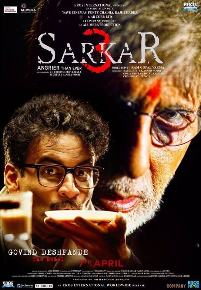 Sarkar 3 poster, copyright in handen van productiestudio en/of distributeur