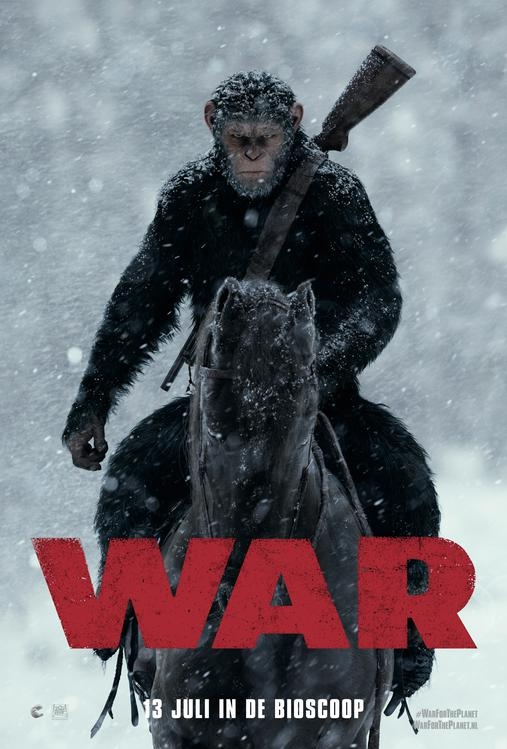 War for the Planet of the Apes poster, © 2017 20th Century Fox