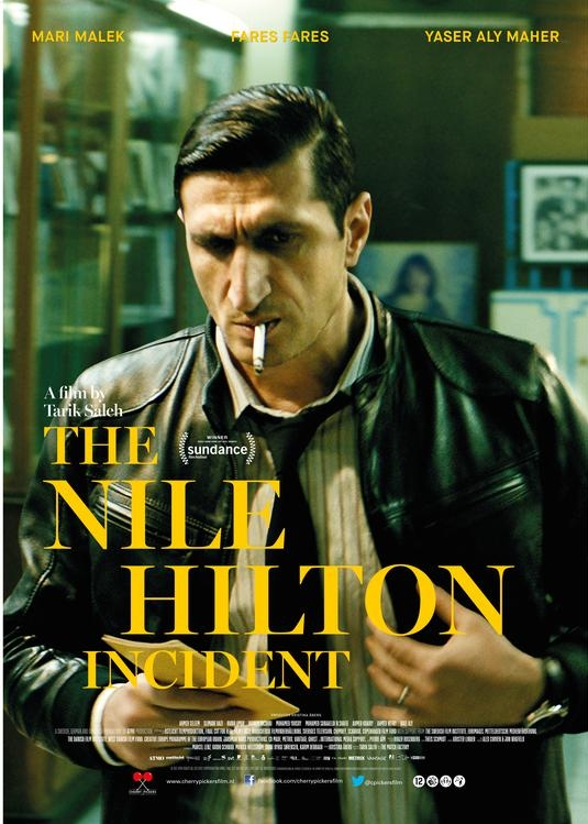 The Nile Hilton Incident poster, © 2017 Cherry Pickers