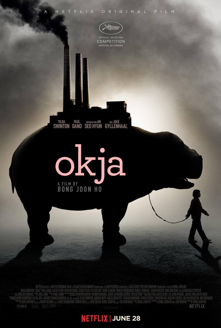 Okja poster, copyright in handen van productiestudio en/of distributeur