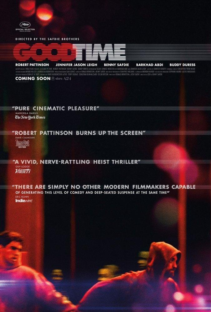Good Time poster, © 2017 Cinéart