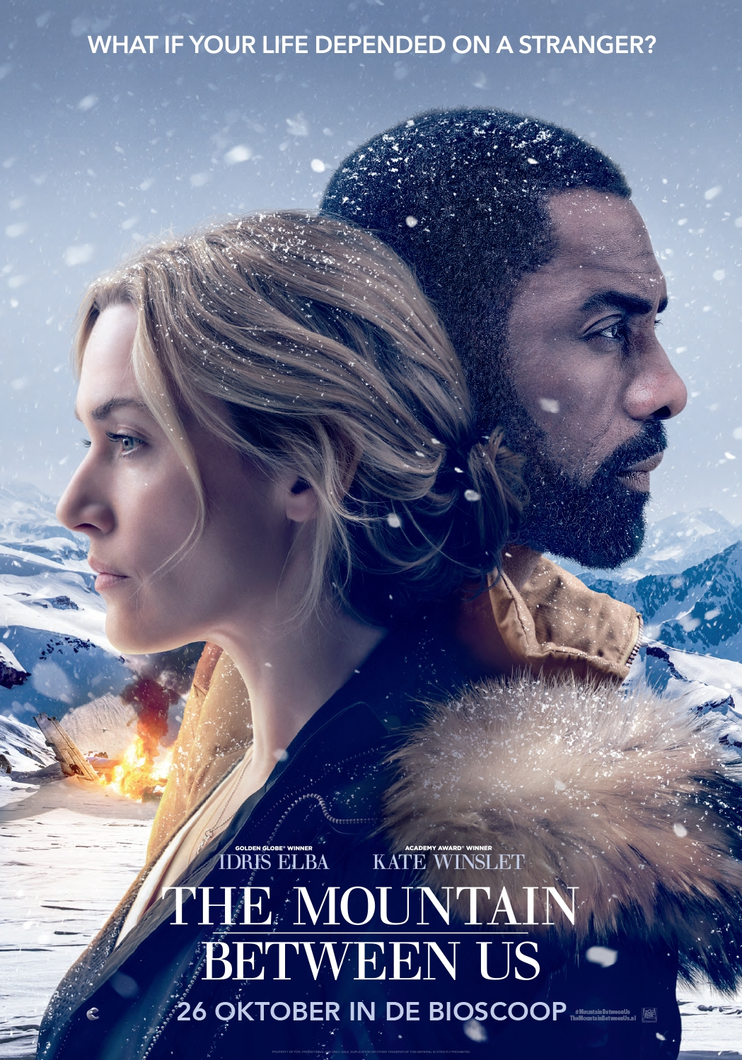The Mountain Between Us poster, © 2017 20th Century Fox