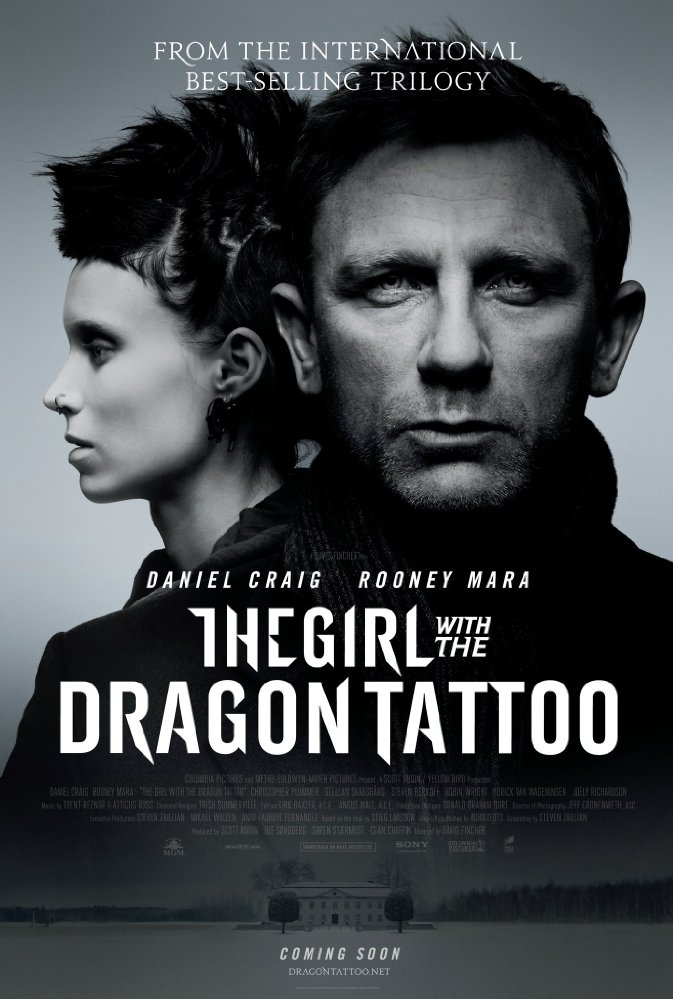 The Girl with the Dragon Tattoo poster, © 2011 Sony Pictures Releasing