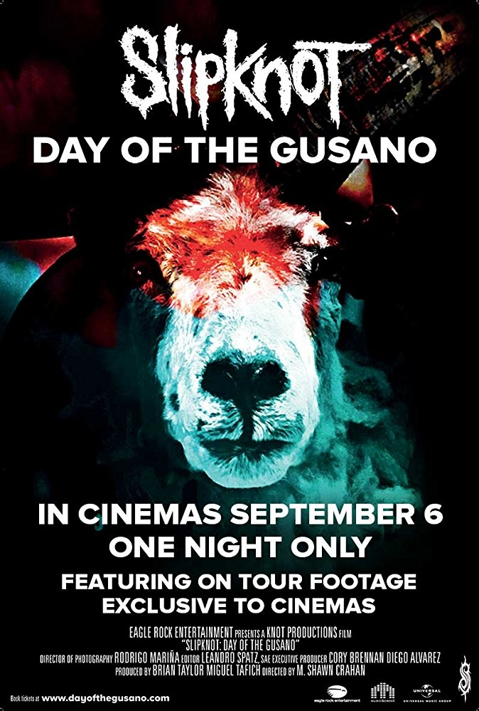 Slipknot: Day of the Gusano poster, copyright in handen van productiestudio en/of distributeur