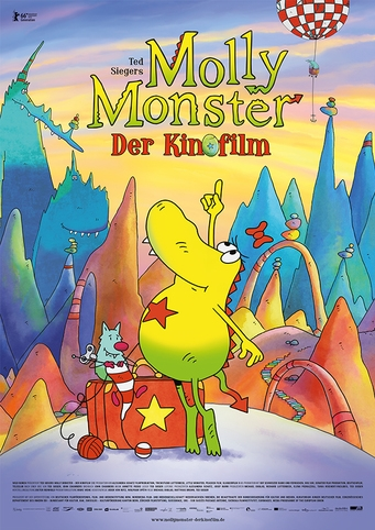 Ted Sieger's Molly Monster - Der Kinofilm (NL) poster, copyright in handen van productiestudio en/of distributeur