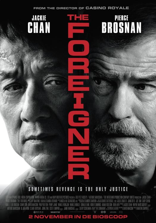 The Foreigner poster, © 2017 The Searchers