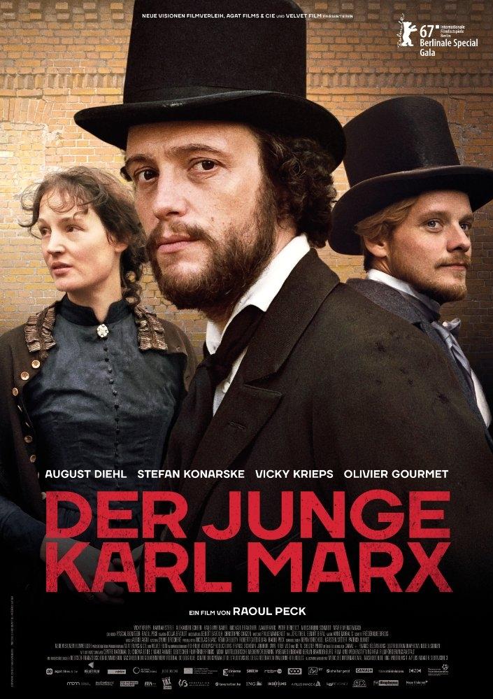Le jeune Karl Marx poster, copyright in handen van productiestudio en/of distributeur