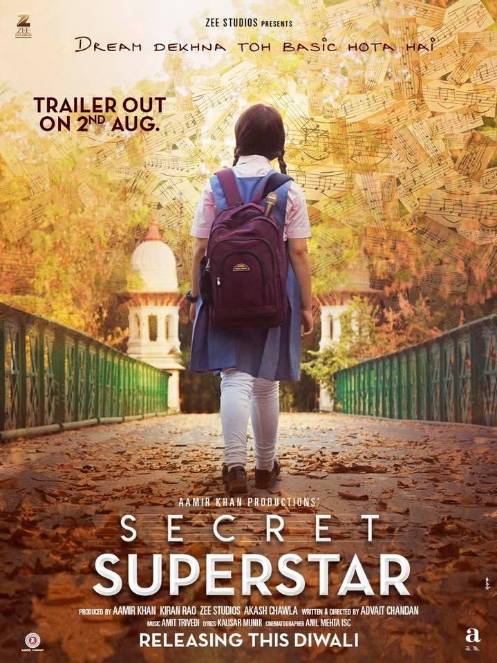 Secret Superstar poster, copyright in handen van productiestudio en/of distributeur