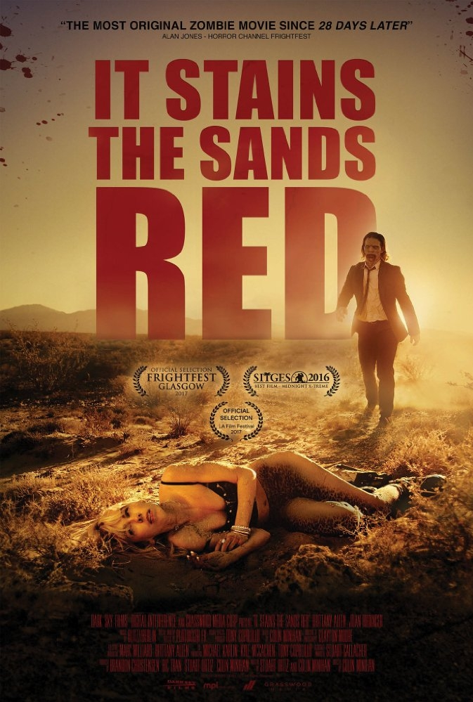 It Stains the Sands Red poster, copyright in handen van productiestudio en/of distributeur