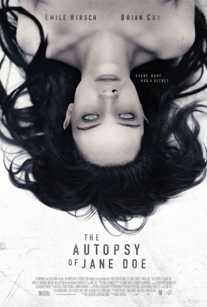 The Autopsy of Jane Doe poster, copyright in handen van productiestudio en/of distributeur