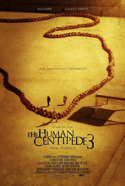 The Human Centipede III (Final Sequence) poster, copyright in handen van productiestudio en/of distributeur