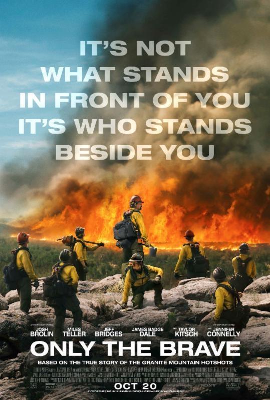 Only the Brave poster, copyright in handen van productiestudio en/of distributeur