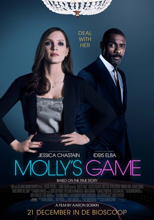 Molly's Game poster, © 2017 Entertainment One Benelux