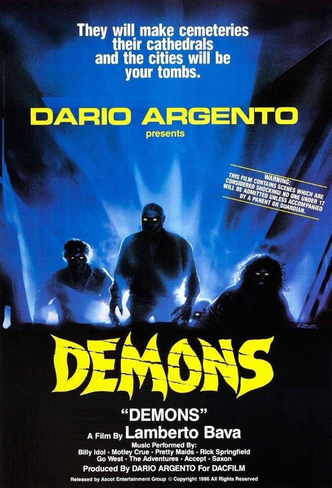 Dèmoni poster, copyright in handen van productiestudio en/of distributeur