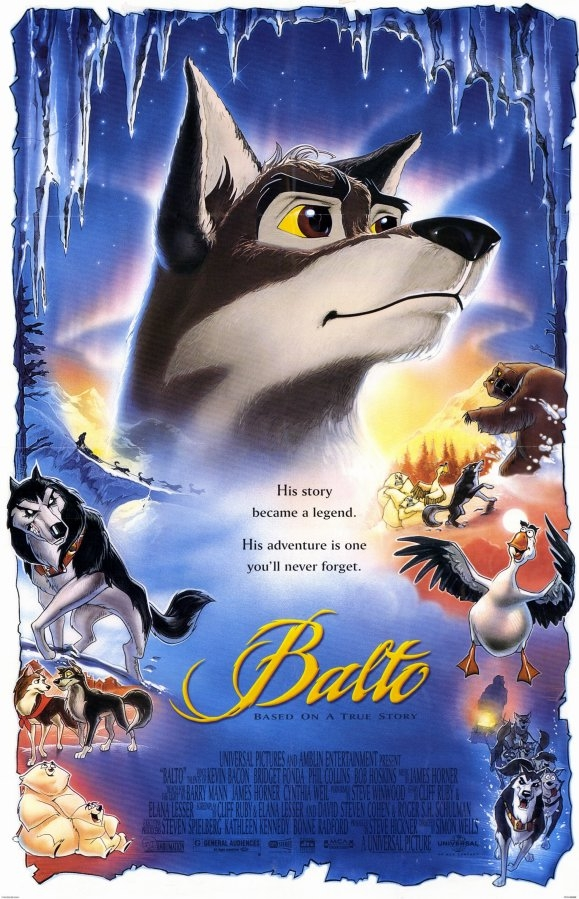 Balto poster, copyright in handen van productiestudio en/of distributeur