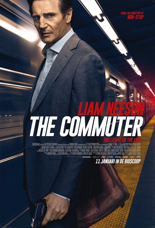 The Commuter poster, © 2018 Entertainment One Benelux