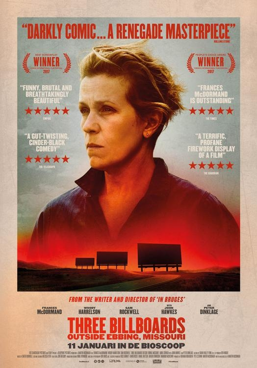 Three Billboards Outside Ebbing, Missouri poster, © 2017 20th Century Fox