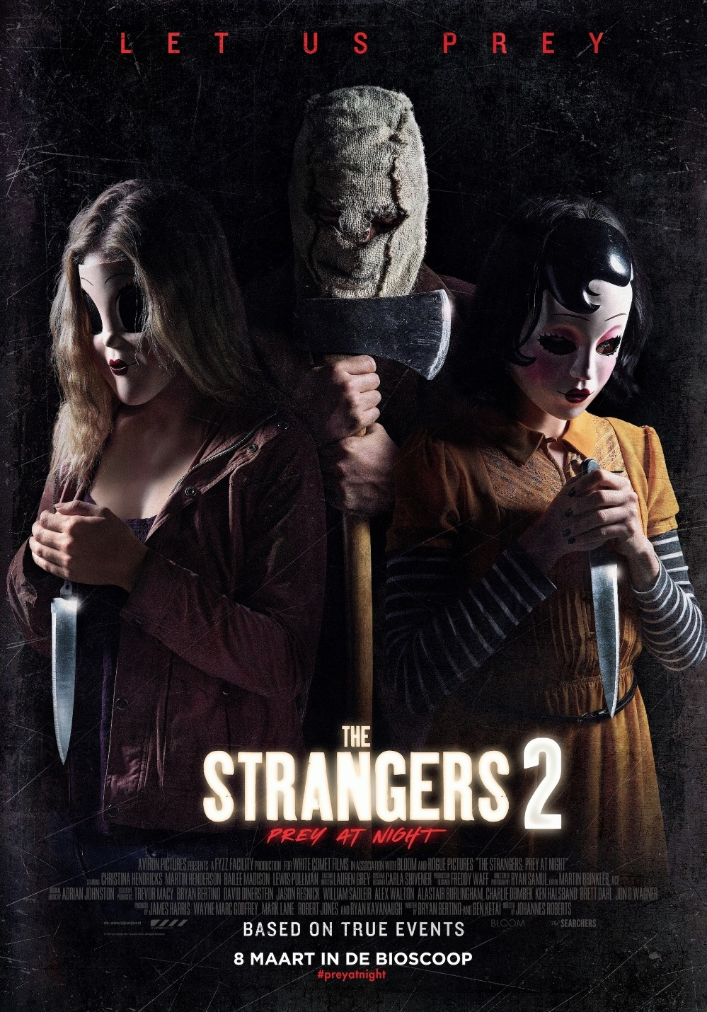 The Strangers: Prey at Night poster, © 2018 The Searchers