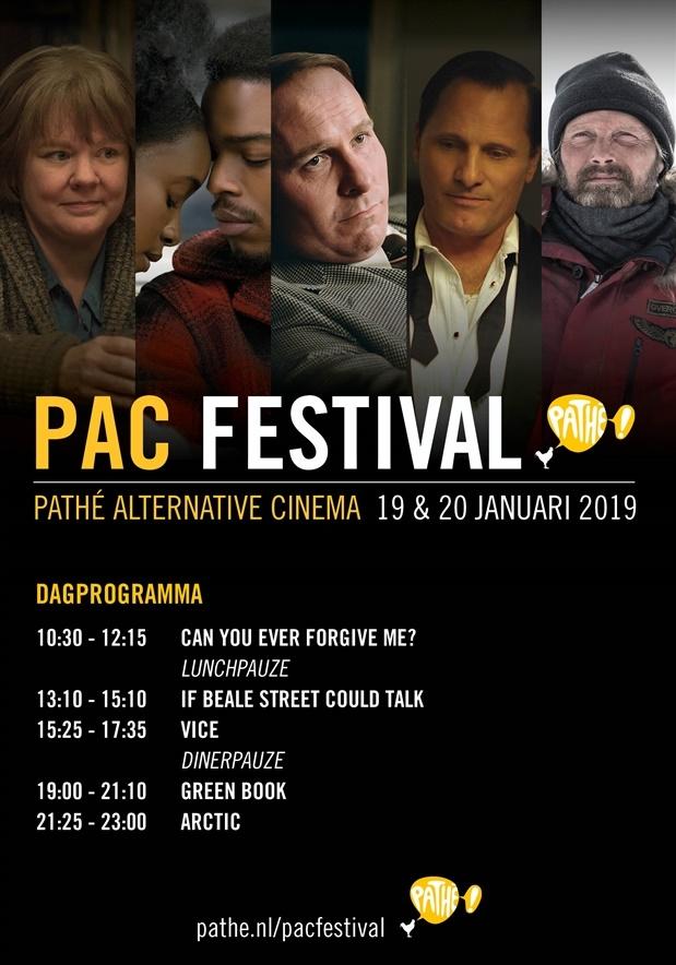 PAC festival 2018 poster, copyright in handen van productiestudio en/of distributeur