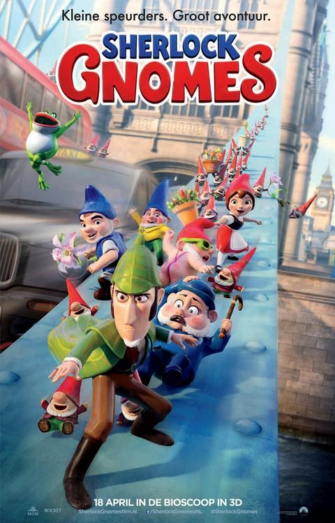 Gnomeo & Juliet: Sherlock Gnomes poster, © 2018 Universal Pictures International