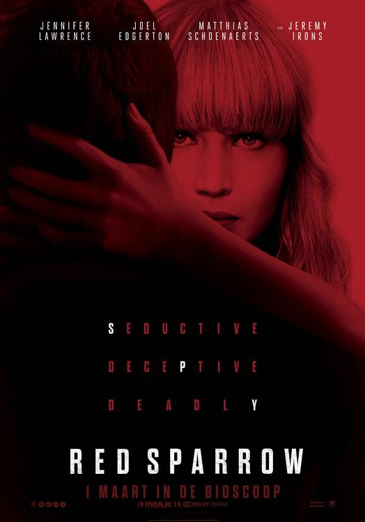 Red Sparrow poster, © 2017 20th Century Fox
