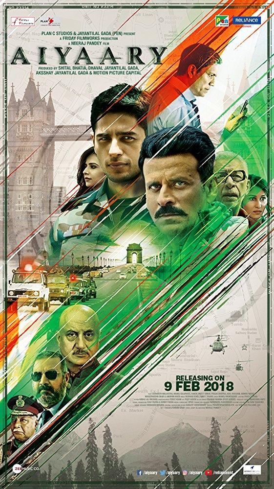Aiyaary poster, copyright in handen van productiestudio en/of distributeur