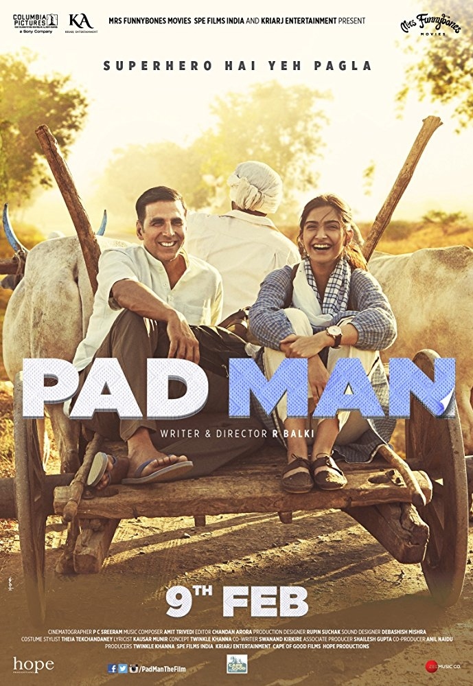 Padman poster, copyright in handen van productiestudio en/of distributeur