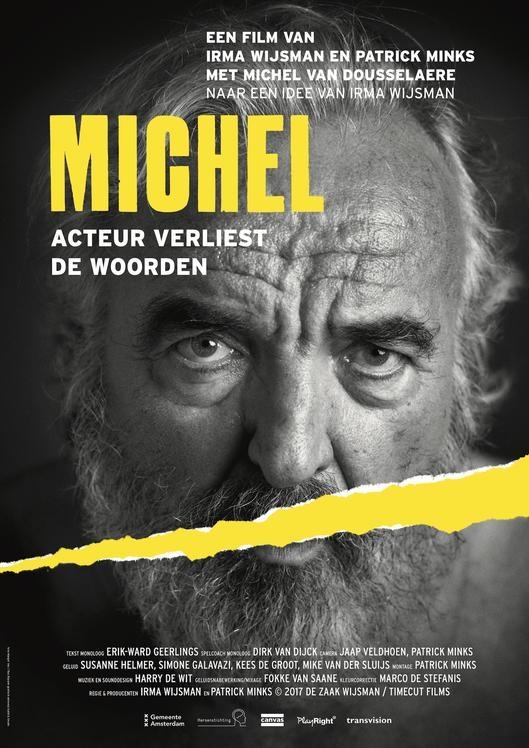 Michel, acteur verliest de woorden poster, copyright in handen van productiestudio en/of distributeur