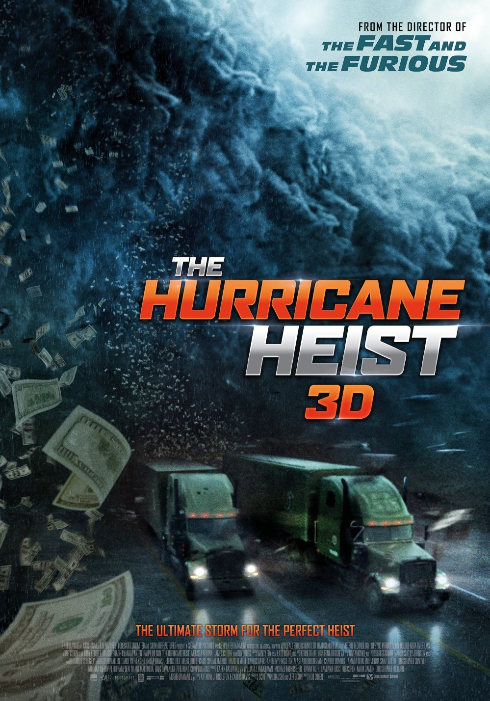 Th Hurricane Heist 3D poster, copyright in handen van productiestudio en/of distributeur