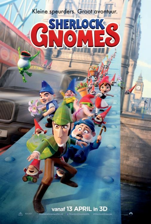 Sherlock Gnomes poster, © 2018 Universal Pictures International