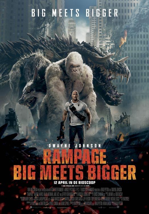 Rampage: Big Meets Bigger poster, © 2018 Warner Bros.