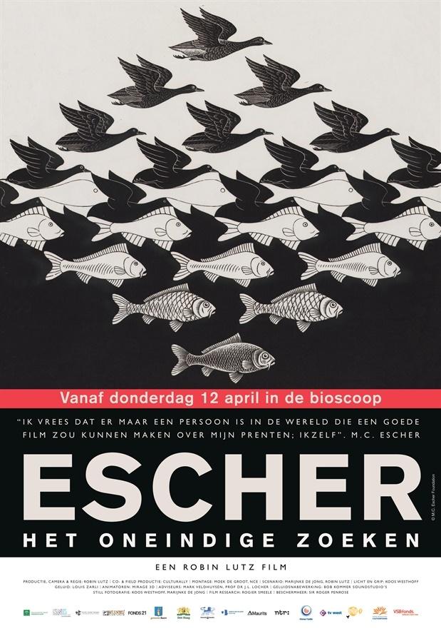 Escher: Het Oneindige Zoeken poster, copyright in handen van productiestudio en/of distributeur