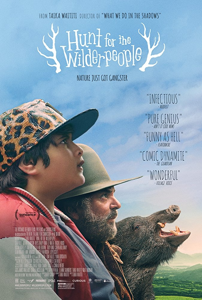 Hunt for the Wilderpeople poster, copyright in handen van productiestudio en/of distributeur