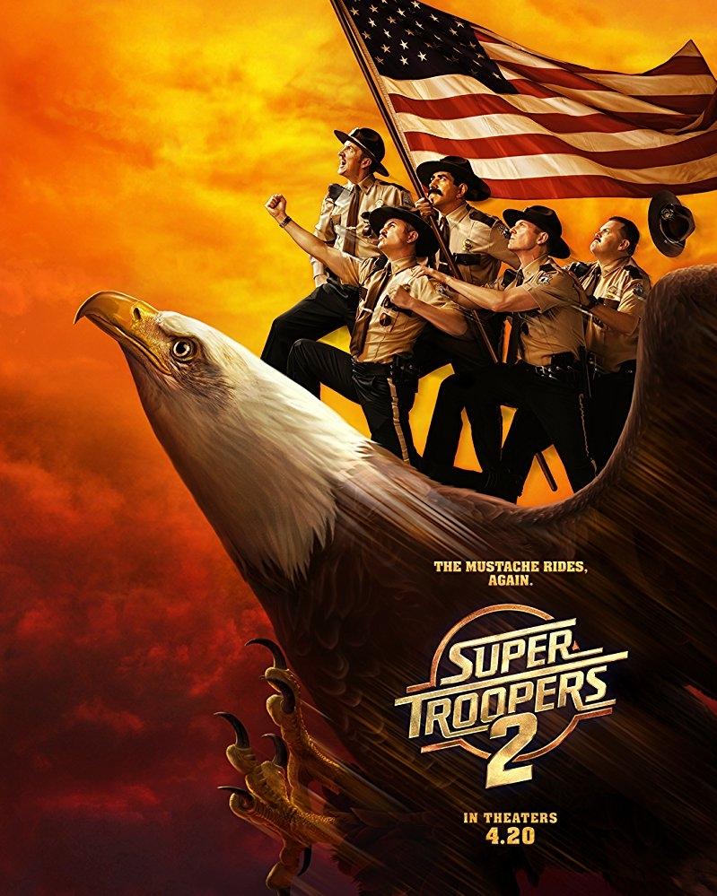 Super Troopers 2 poster, copyright in handen van productiestudio en/of distributeur
