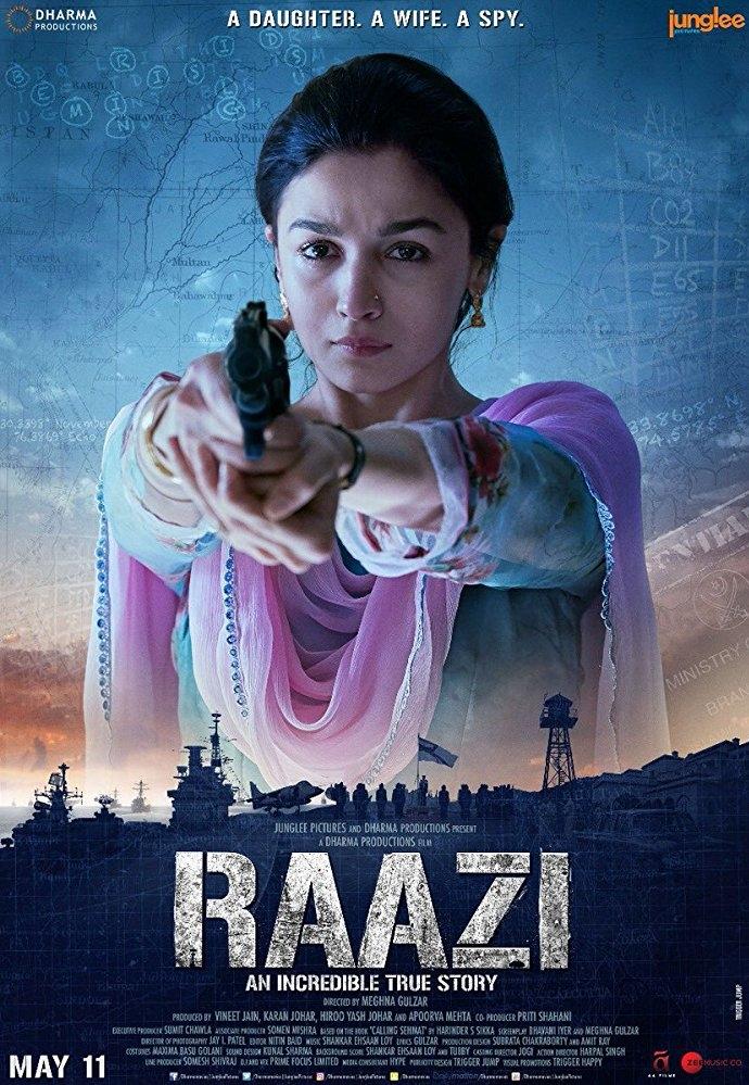 Raazi poster, copyright in handen van productiestudio en/of distributeur