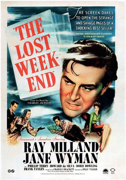 The Lost Weekend poster, © 1945 Eye Film Instituut