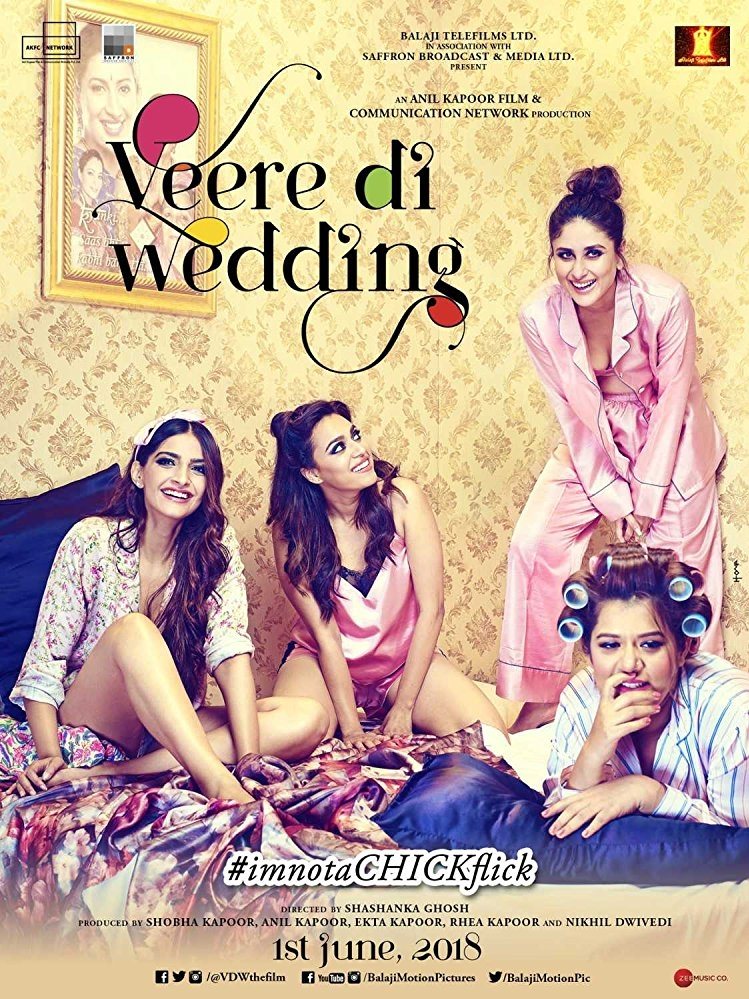 Veere Di Wedding poster, copyright in handen van productiestudio en/of distributeur