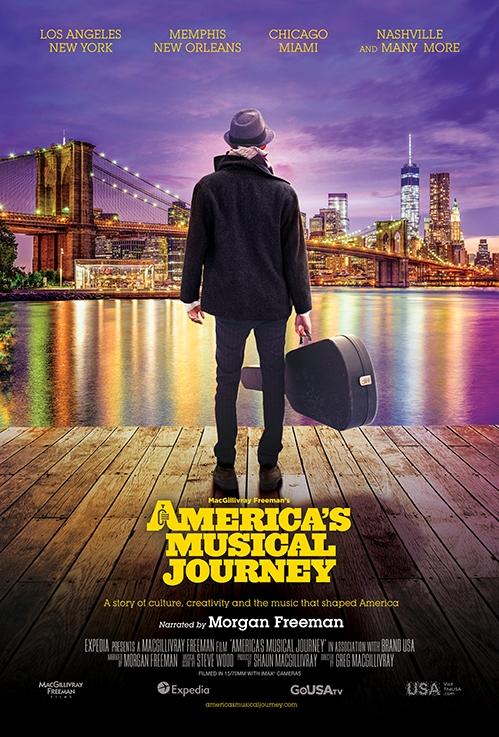 America's Musical Journey poster, copyright in handen van productiestudio en/of distributeur