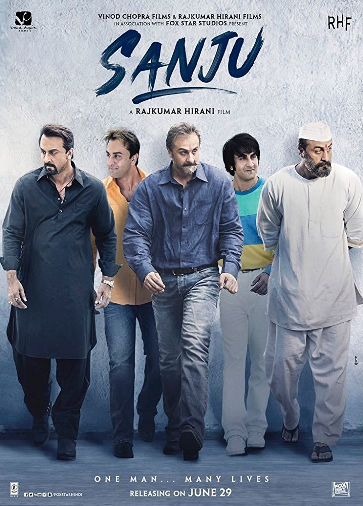 Sanju poster, copyright in handen van productiestudio en/of distributeur