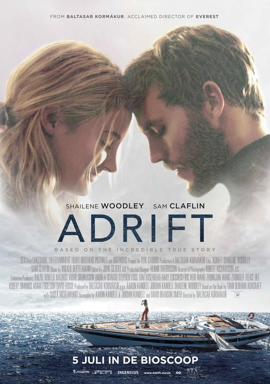 Adrift poster, copyright in handen van productiestudio en/of distributeur
