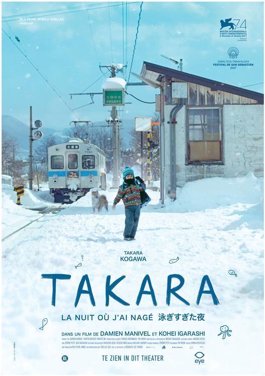 Takara, la nuit où j'ai nagé poster, © 2017 Eye Film Instituut