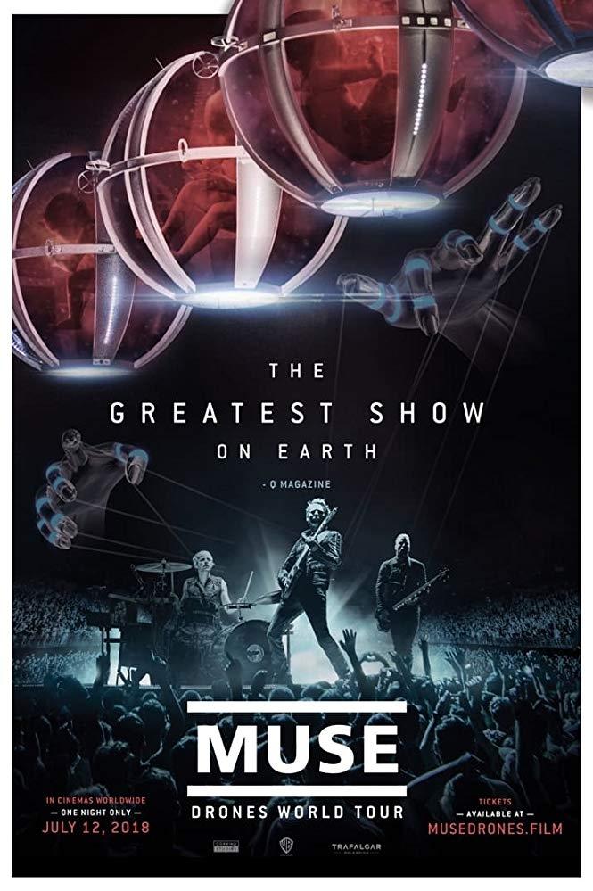 Muse Drones World Tour poster, copyright in handen van productiestudio en/of distributeur