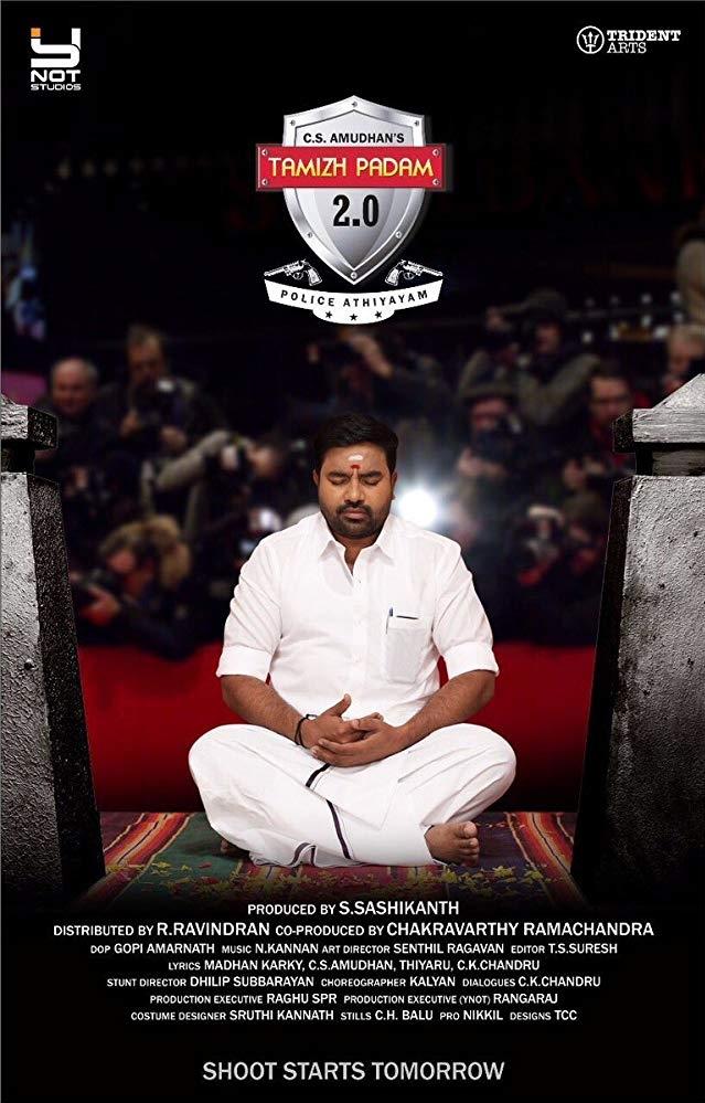 Thamizh Padam 2 poster, copyright in handen van productiestudio en/of distributeur