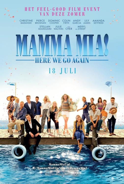 Mamma Mia! Here We Go Again poster, © 2018 Universal Pictures International